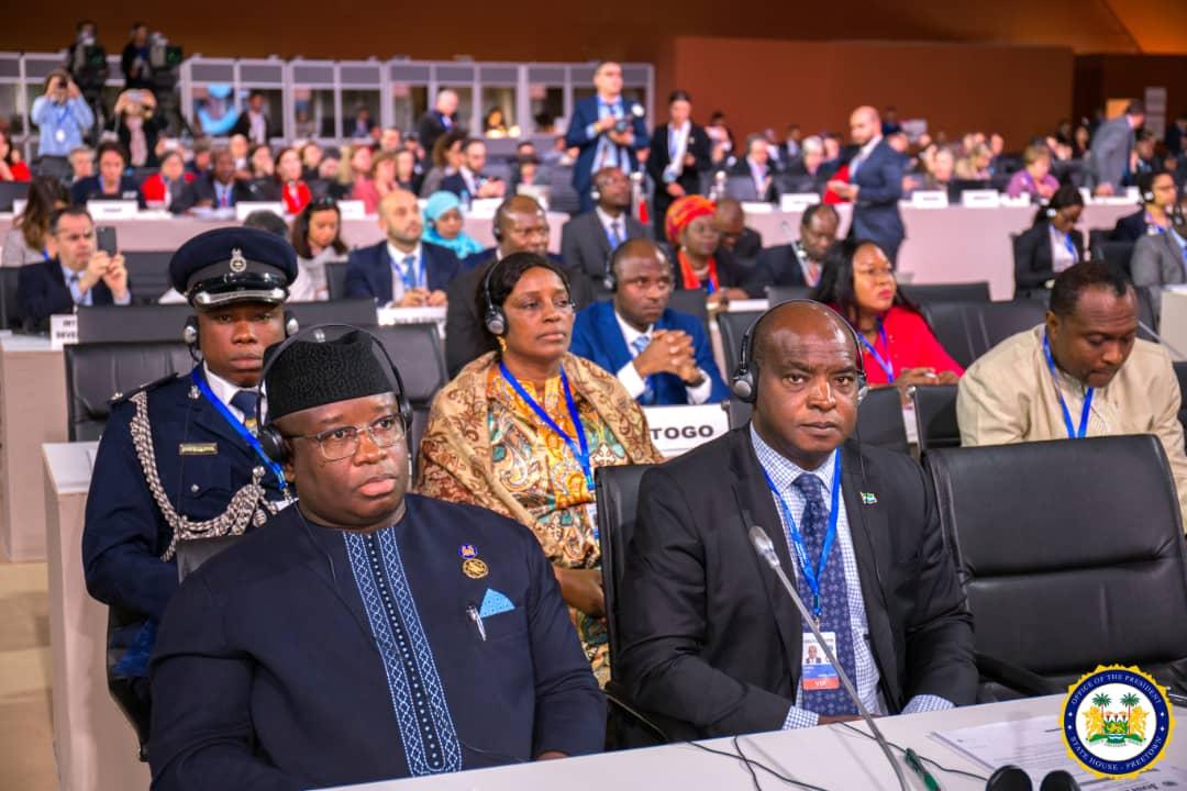 president Bio at the global conferenece in Morocco 1