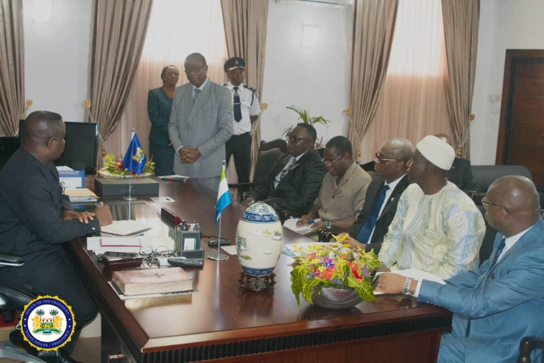 WAEC visits president Bio 1