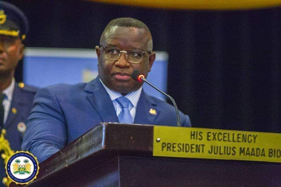 president Bio speaks at Bintumani 3