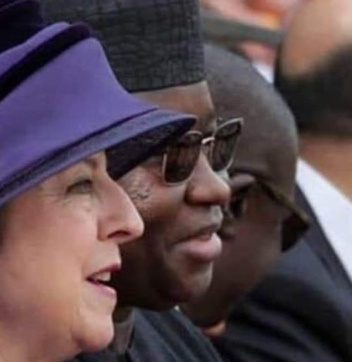 president Bio and Briish prime minister May in London2