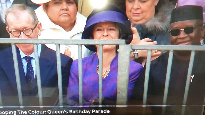 President Bio at Queen Elizabeth's birthday celebration in