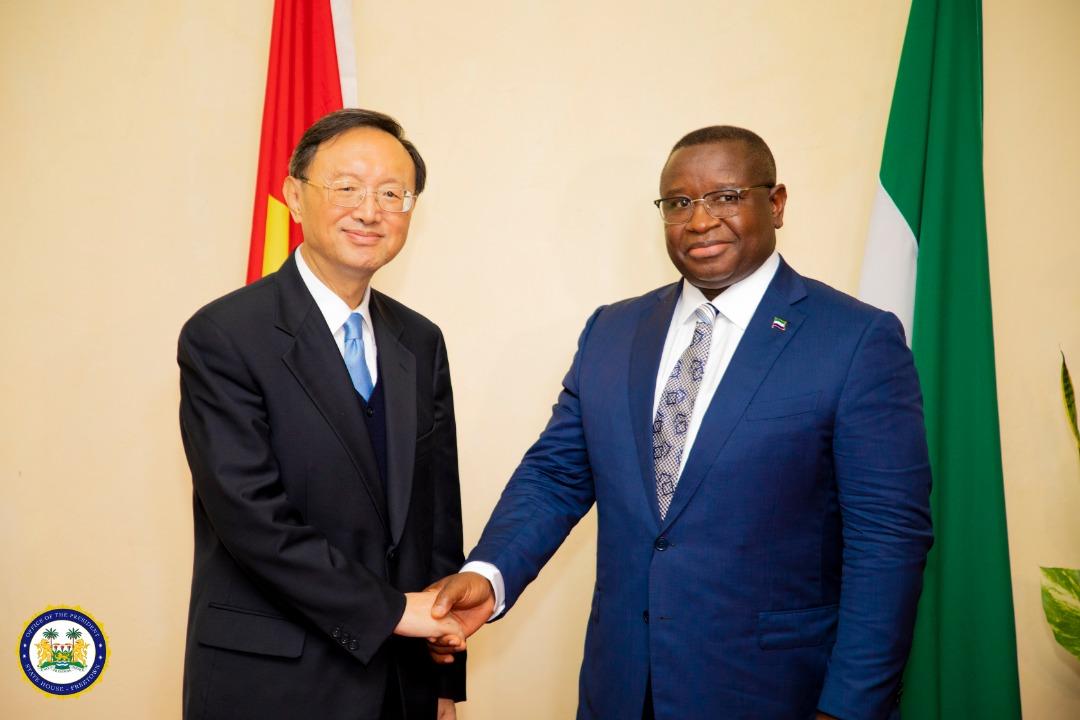 Chinese Envoy meets president Bio 3