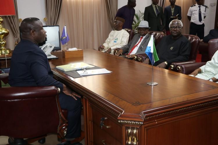 president Bio meets APC leadership 1