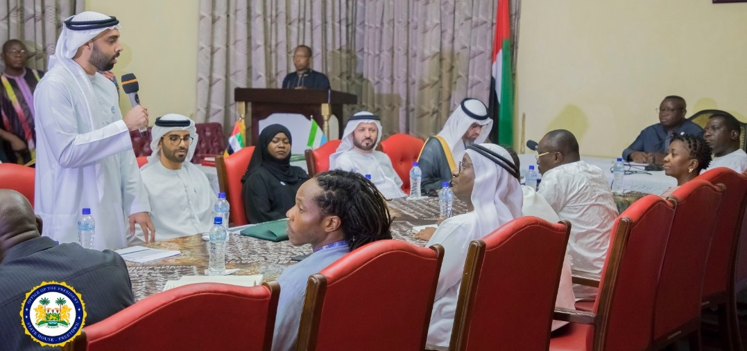 President Bio meets UAE officials at State House 1