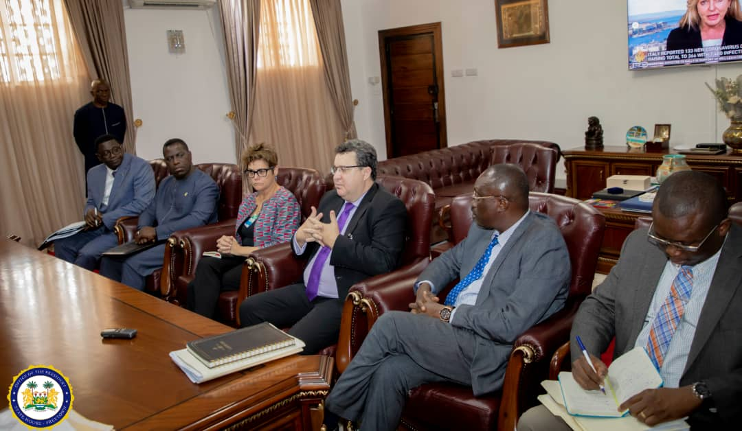 President Bio engages World Bank Country Director on the state of preparedness to tackle Coronavirus1