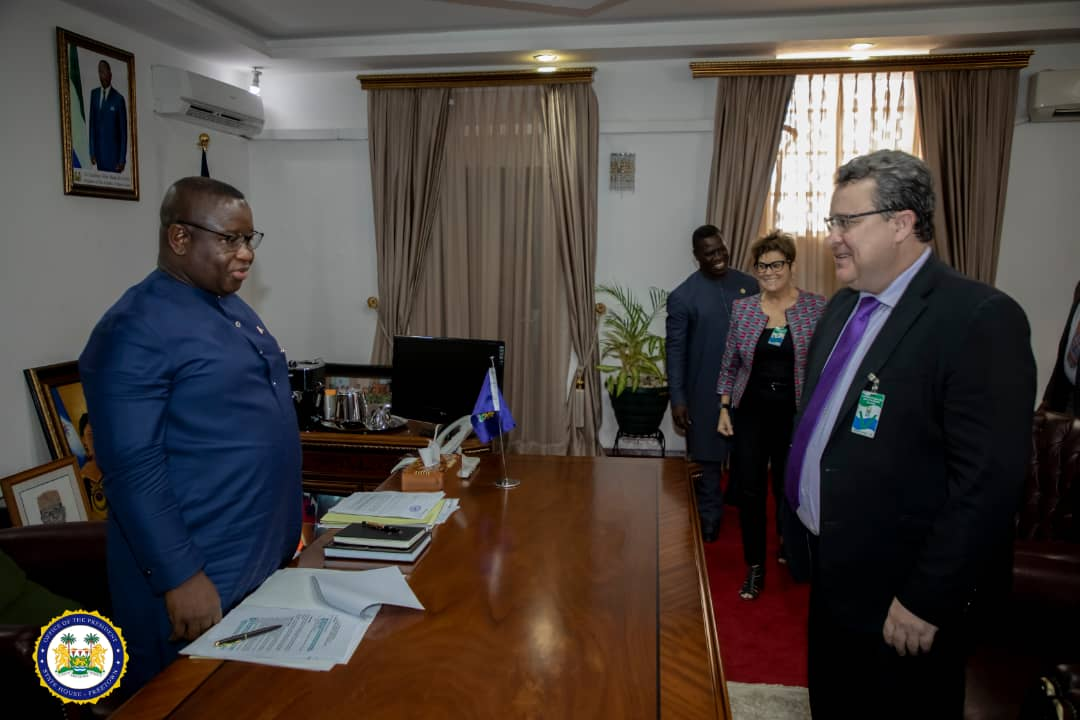 President Bio engages World Bank Country Director on the state of preparedness to tackle Coronavirus2
