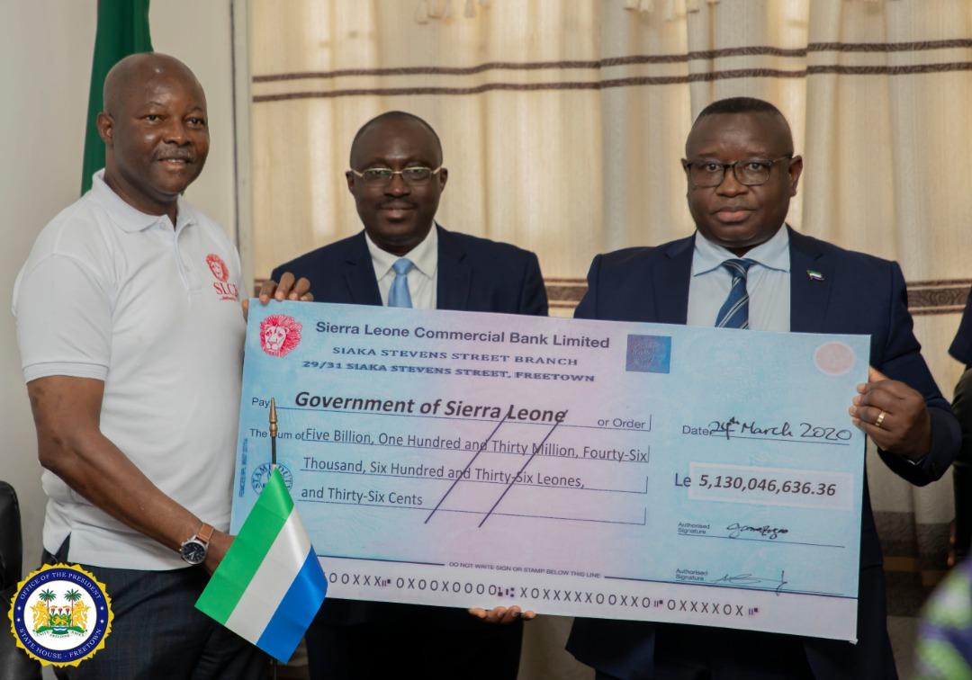 SLCB pays dividend to President Bio 3