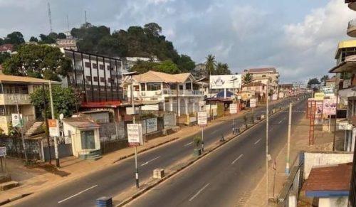 corona lockdown in Freetown 2