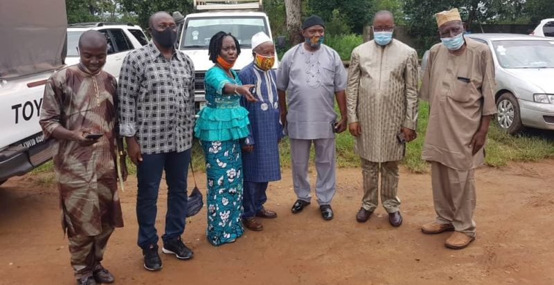 Kandeh Yumkella with MoPED committee clerk and members