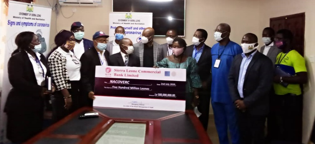 Sierra Leone Commercial Bank boosts government's Covid-19 response with Le500 million 1