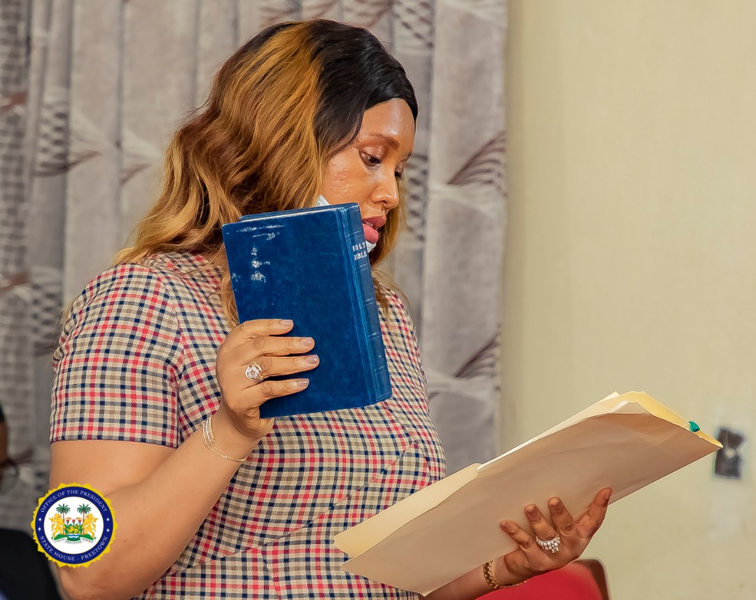 Deputy Minister of mines Mrs Harding takes oath of office