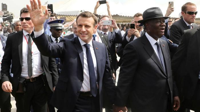 Alassane Ouattara and Emmanuel Macron
