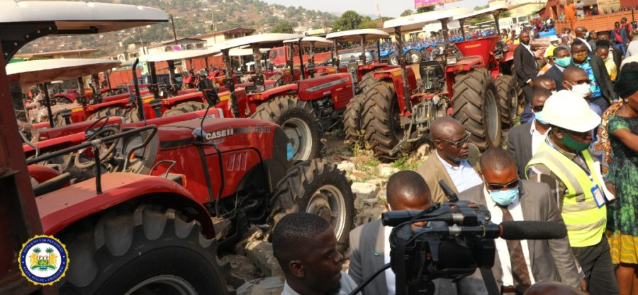 President Bio inspects Agricultural Machinery 1