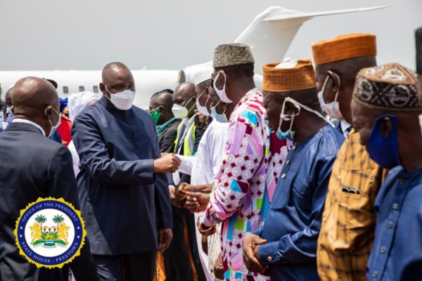President Bio receives African Heads of State 1