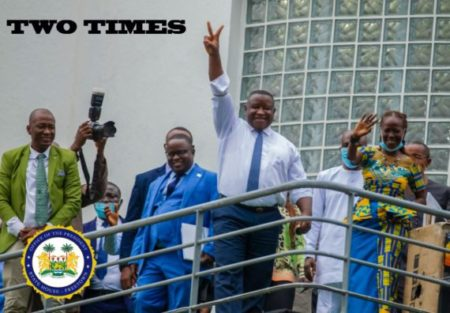 Sierra Leone's President Bio congratulates national football team after their 1-0 victory over Benin  1