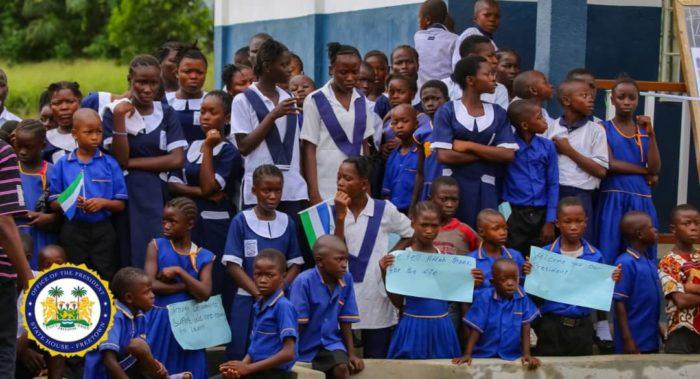 President Bio commissions 100 Schools in Bo, Kenema, Port Loko, Bombali 2