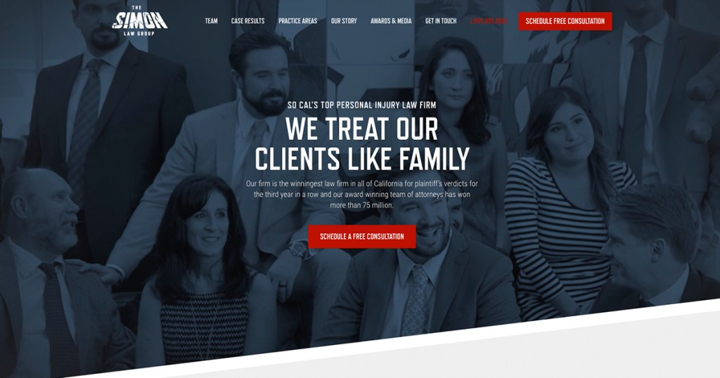 Homepage Simon Law Group