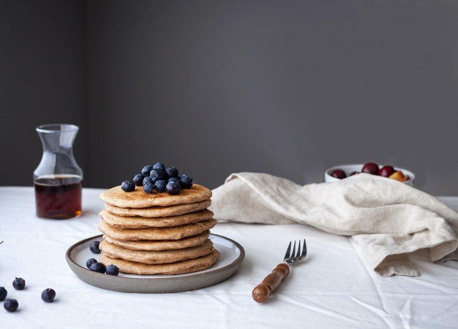Cinnamon Spelt Pancakes - The Simple Green