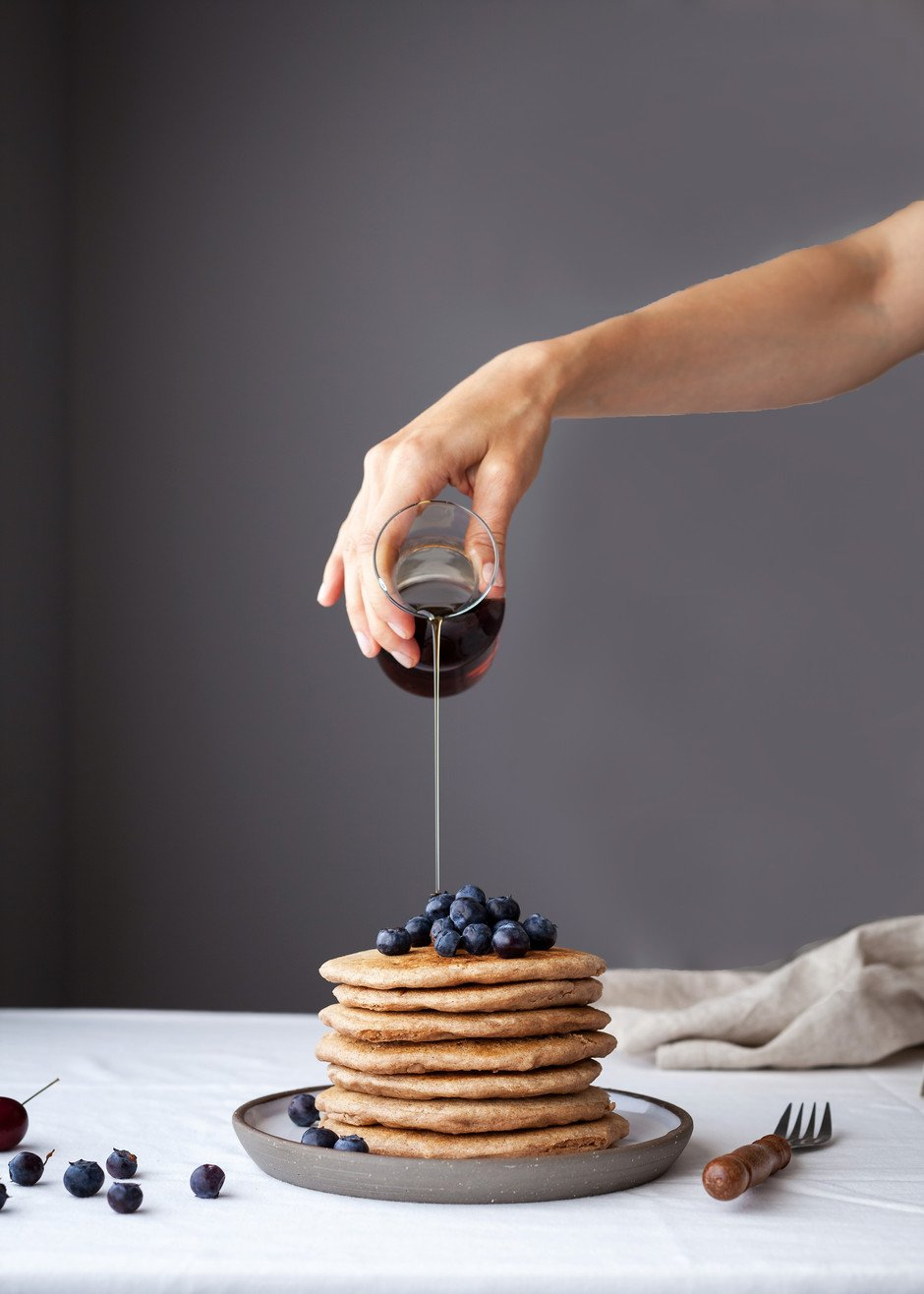 vegan Cinnamon Spelt Pancakes - The Simple Green