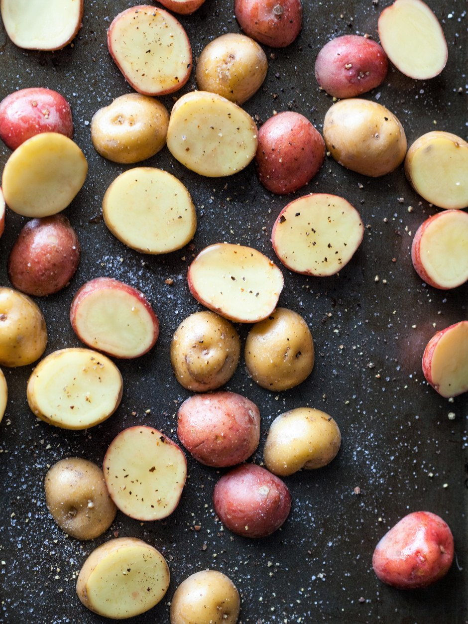 Roast Potato Salad w Dijon Toss
