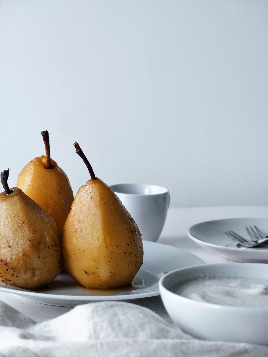 Chai Poached Pears