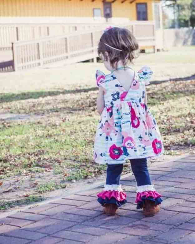 Baby Chloe's Ruffle Leggings, Capris + Shorties | The Simple Life Pattern Company