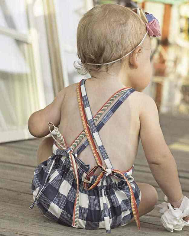 Baby Reagan | Bib Romper | The Simple Life Pattern Company