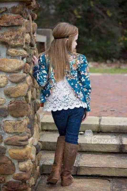Braxton's Blazer. PDF sewing patterns for girls sizes 2t-12