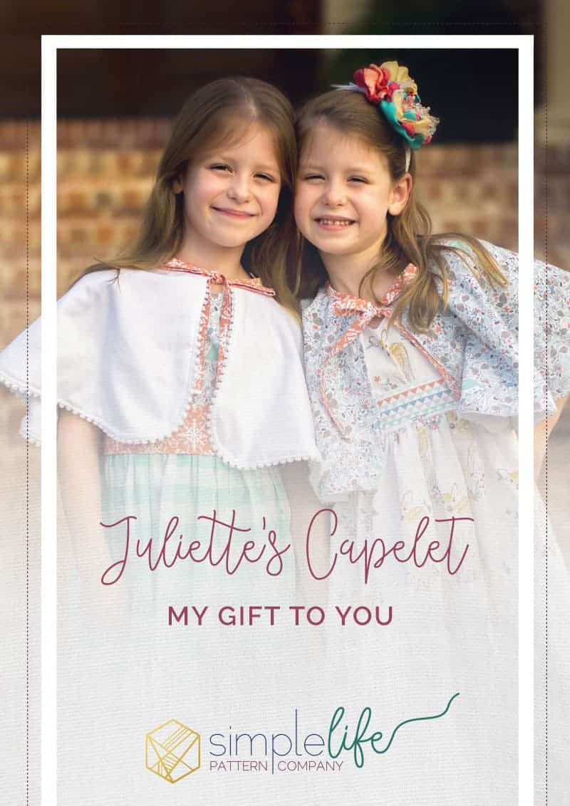 Juliette's Capelet The Simple Life Pattern Company