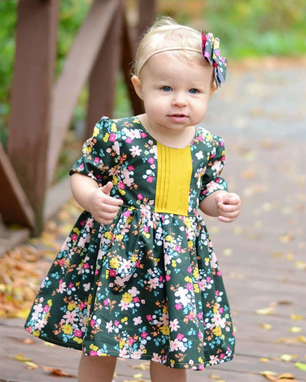 Baby Helena's Button Back Top and Dress Tester Round Up. PDF Sewing Patterns Baby Sizes NB-24 Months. Top, Dress, Spring, Summer, Fall, Winter, Pintuck Placket, Button Back, Sleeveless, Sleeves, Baby, Newborn, Flutters, High-Low