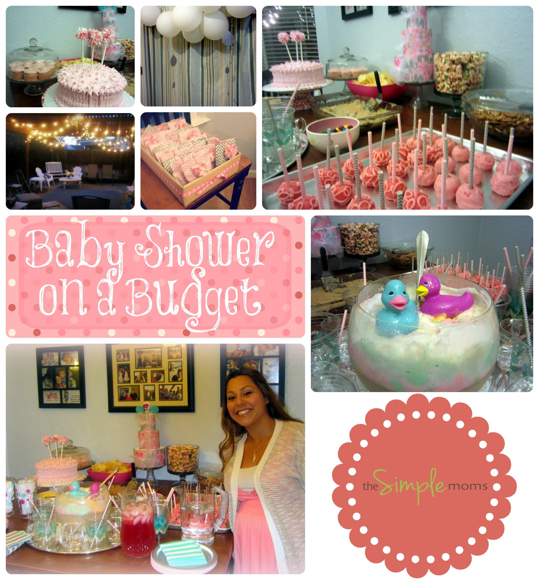 Baby Girl Shower On A Budget Pink And Gray Planning