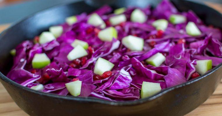 Pomegranate Braised Cabbage