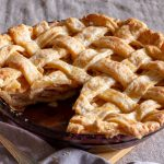 apple pie with a piece cut out