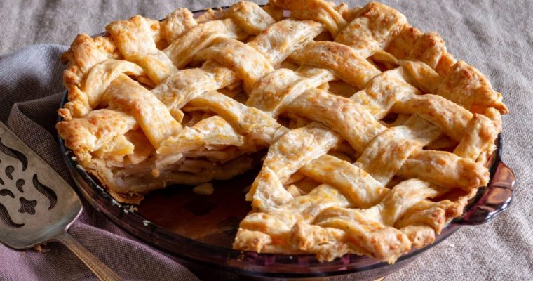Savory Cheddar Dill and Apple Pie