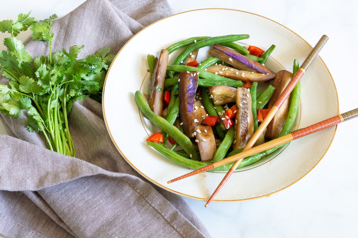 Spicy Eggplant and Green Beans   Whole 30, Vegan