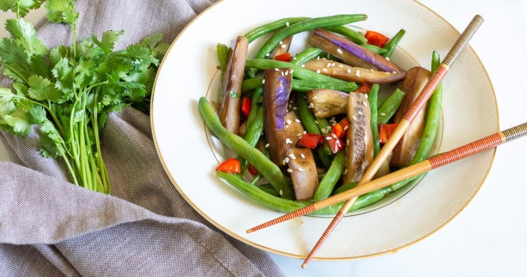Spicy Eggplant and Green Beans | Whole 30, Vegan