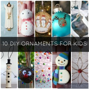 10 DIY Kids Christmas Ornaments - The Simply Crafted Life