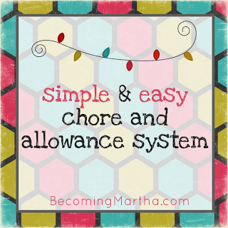 Easy Chore and Allowance System - The Simply Crafted Life