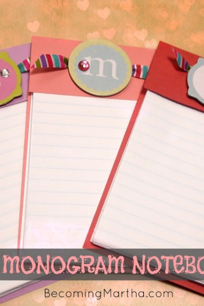 DIY Monogram Notebooks {Valentine's Gift} - The Simply Crafted Life