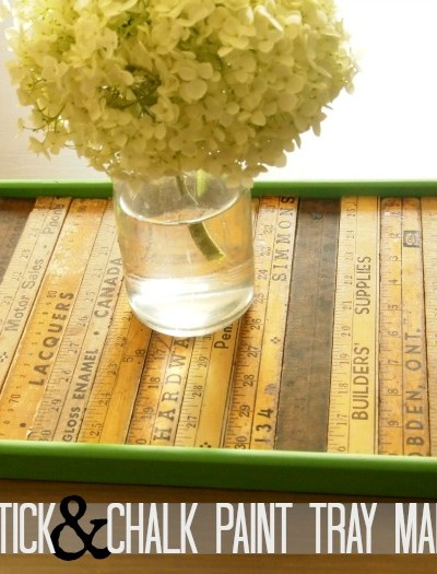 Yard Stick and Chalk Paint Tray Makeover - The Simply Crafted Life