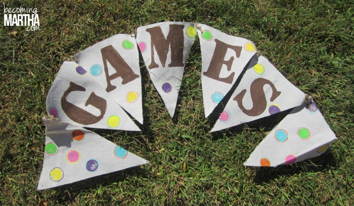 stenciled painted party banner 4