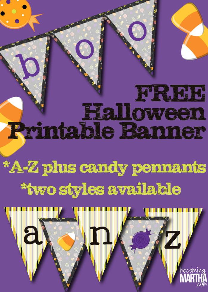 Free Printable Halloween Banner , The Simply Crafted Life