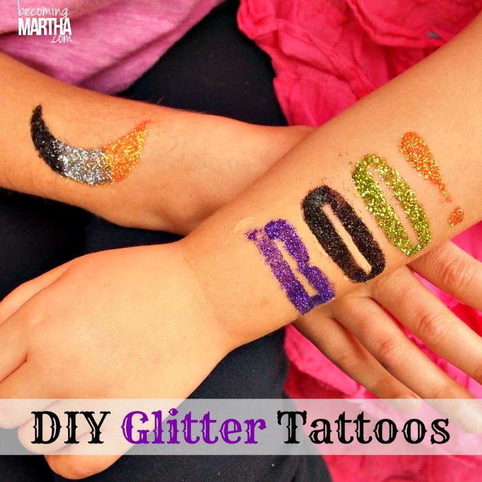 Glitter Tattoos DIY Tutorial