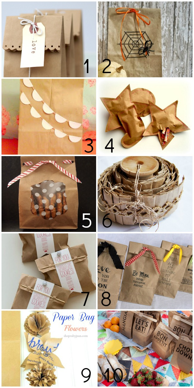 50+ Things to Make With Paper Bags - For the Gifts