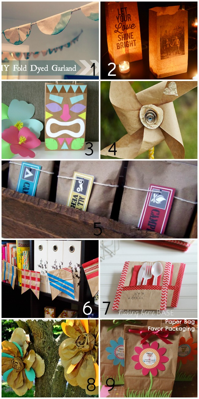 50+ Things to Make With Paper Bags - For the Parties