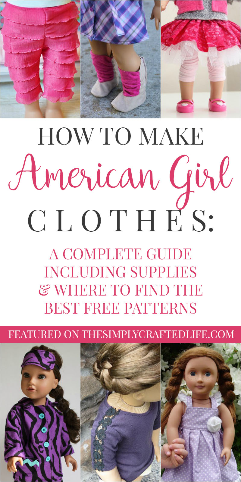 2bdf0b0807e8 How to Make American Girl Doll Clothes - a complete guide to free American  Girl patterns