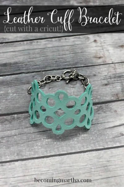 This DIY Leather Cuff can be easily recreated at home with your Cricut Explore! It cuts leather like butter and the final product makes a great gift!