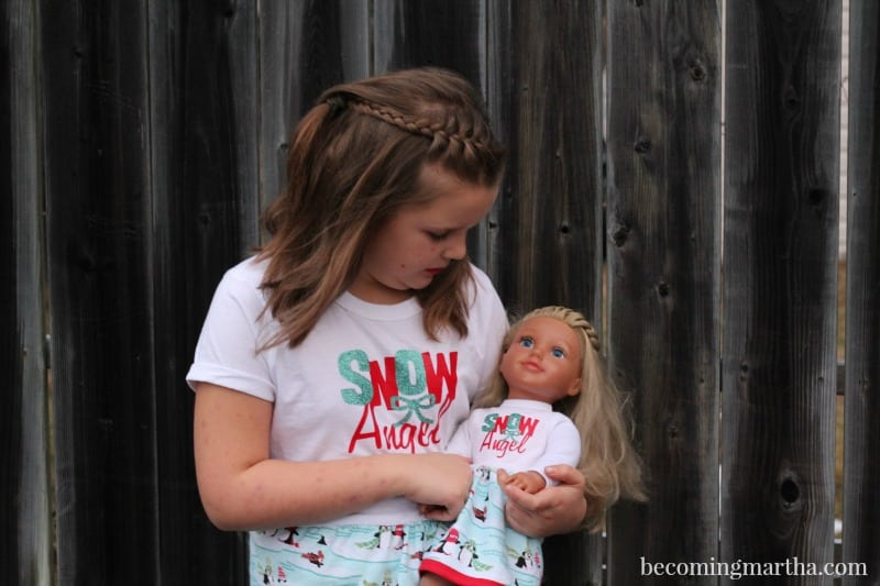 These Matching Doll PJs, made in under an hour, are a quick way to make the doll lover in your life smile wide this holiday season.