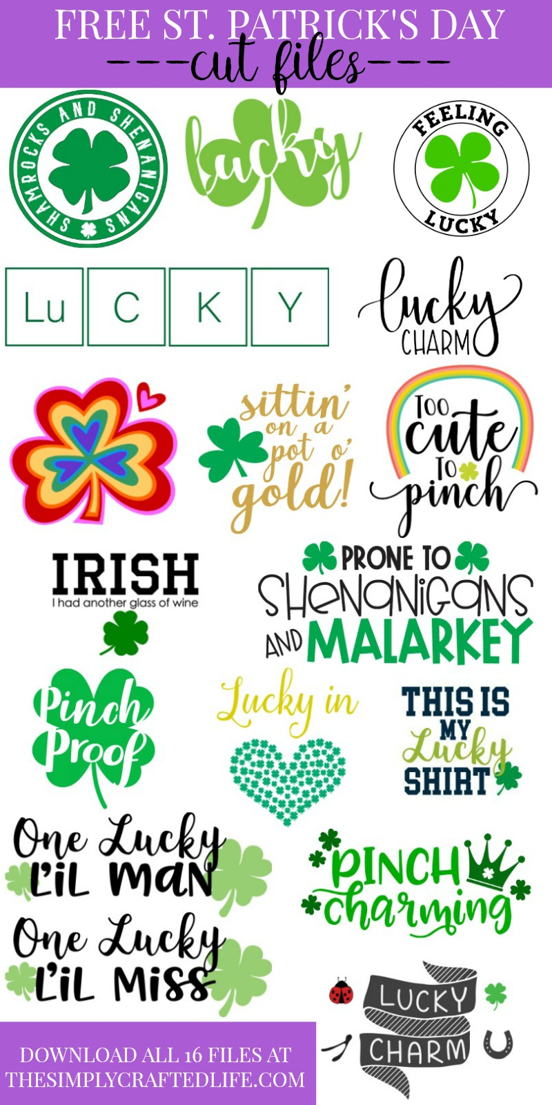 65a65300 Free St. Patrick's Day SVG + 15 Other Free Cut Files -