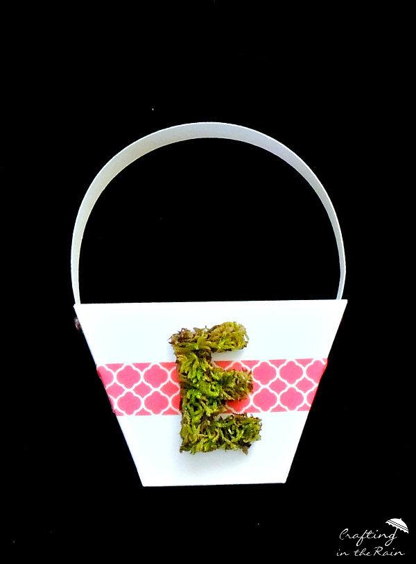 Moss Monogrammed Easter Basket